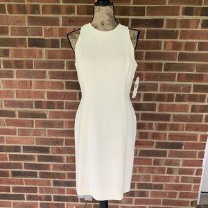 NWT Jones New York white sleeveless sheath dress